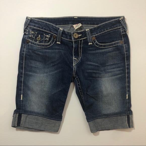 True Religion Pants - TRUE RELIGION jean Bermuda shorts long cuffed 31
